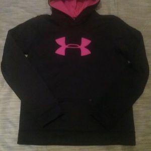 Youth Girls UA hooded sweatshirt